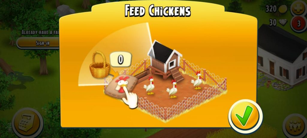 hay day mod apk feed chickens